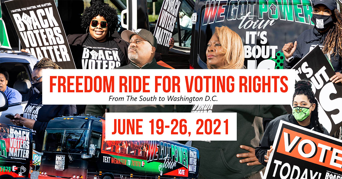"""Black Voters Matters Announces Juneteenth Launch, National Partnerships For Upcoming """"Freedom Ride For Voting Rights"""""""